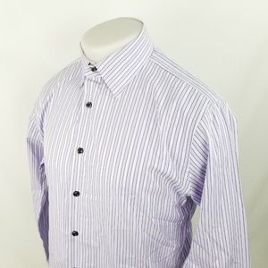 John W Nordstrom Mens Button Front Shirt Sz 15.5